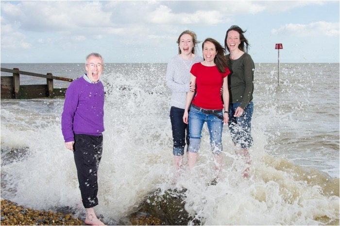 Fun in the surf. Portraits by Tony Pick in Aldeburgh