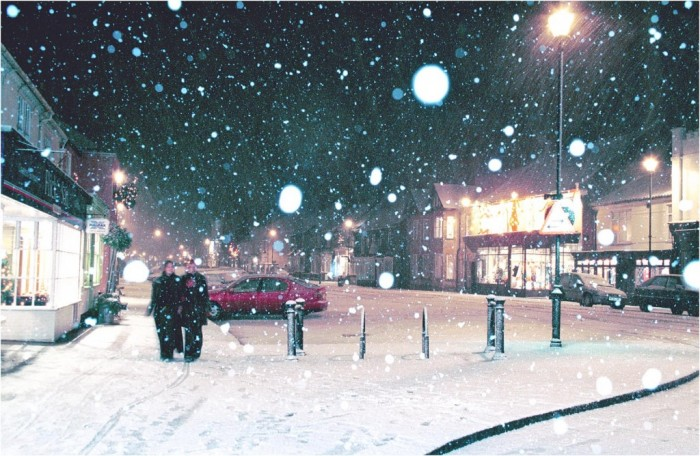 Aldeburgh High Street in Snow at Christmas